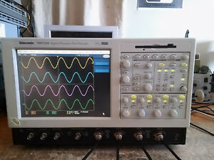 Tektronix Tds7104 1ghz 10gs s Oscilloscope Dso 32gb Ssd Drive And Win Xp