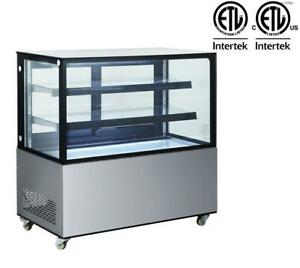 Toolots Arc 370z 48 Square Glass Stainless Steel Refrigerated Bakery Display Ca