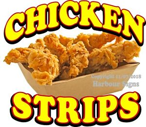 Chicken Strips Decal choose Your Size Food Truck Concession Vinyl Sticker