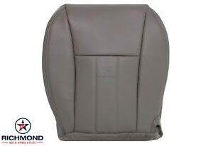 2000 Jeep Cherokee Driver Side Bottom Replacement Leather Seat Cover Gray Tan
