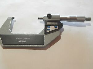Mitutoyo Metric Outside Digital Micrometer 50 75mm Spc Data Output pre owned