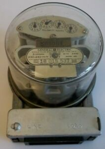 Vintage General Electric Single Phase Watthour Electric Meter Type I 20 a