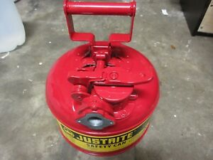 Justrite Red 1 Gallon Galvanized Steel Type 2 Accuflow Safety Can Part 7210120