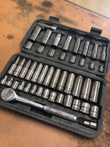 Blue point 49 Pc 3 8 Drive Sae metric Socket Set blpgss3849 read