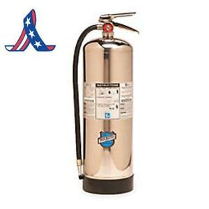Buckeye 51000 Stainless Steel Water Mist Hand Held Fire Extinguisher With Wall H