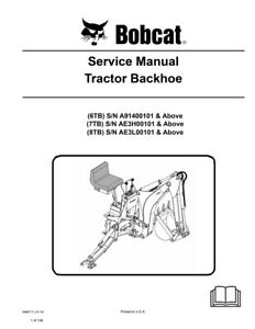 New Bobcat Tractor Backhoe Repair Service Manual 2010 Ed 6986711 Free Shipping