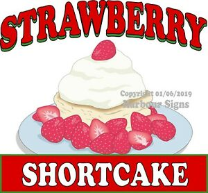 Strawberry Shortcake Decal choose Your Size Food Truck Concession Sticker