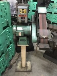 Burr King 4 X 60 On Stand 480v 3 Phase 3 Hp Belt Sander