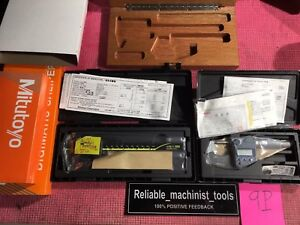 new Set Of Digital Mitutoyo 6in Caliper And 0 1 In Outside Micrometer Ip65 9p