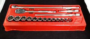Snap On 317mspc 1 2 Drive General Service Set 6 point 17pc Brand New