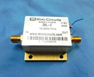 Mini circuits Zkl 2 Coaxial Amplifier 10 2000 Mhz