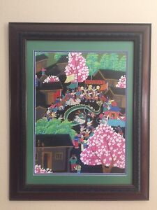 Vintage Chinese Painting Of Dragon Festival Signed Stunning Details