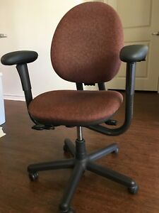 Steelcase Criterion Ergonomic Desk Chair Fully Adjustable Pattern Fabric