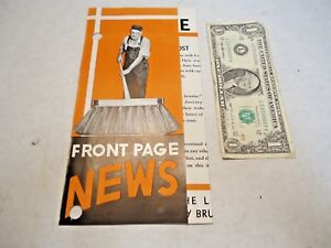 1930 s Joseph Lay Co Brooms Brushes Gutter Brooms Brochure In Good Shape Nr