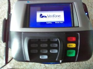 Verifone Mx860 Credit Card Terminal With Stylus Power Cable Ac Adapter