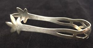 Webster Company Silver Solid Sterling Silver Sugar Tongs