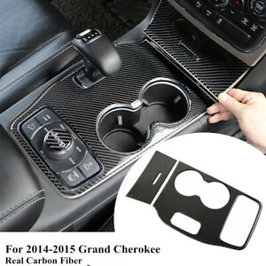 For Jeep Grand Cherokee 2014 15 Carbon Fiber Dashboard Gear Shift Panel Stickers