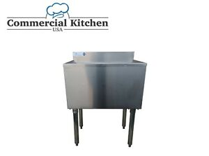 Underbar Stainless Steel Commercial Nsf 77lb Ice Bin 18 x24 Under Bar Free Ship