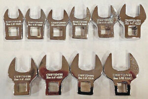 Craftsman 10 Pc Metric 3 8 Drive Crowfoot Wrench Set 94363 Full Polish