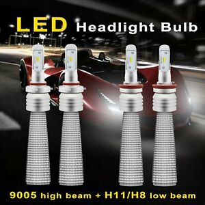 9005 H11 Cree Led Headlight High Low Beam For Transit 150 250 350 Hd 2015 2017