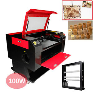 100w Co2 Laser Cutter Engraver Machine W Laser Tube Water Pump Rotary Device