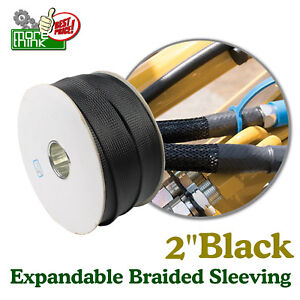 2 Super Braided Cable Sleeving Guide Expandable Nylon Wire Weave Tubing Lot