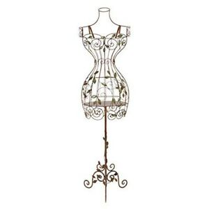 Metal Mannequin Stand Dress Form Torso Display Mannequin Elegant Antique Style
