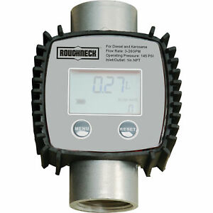 Roughneck 24924 Digital Turbine Fuel Meter 1 Inlet outlet 3 26 Gpm