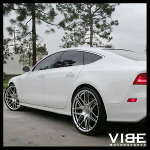 20 Ace Mesh 7 Hypersilver Concave Wheels Rims Fits Ford Mustang Shelby Gt Gt500