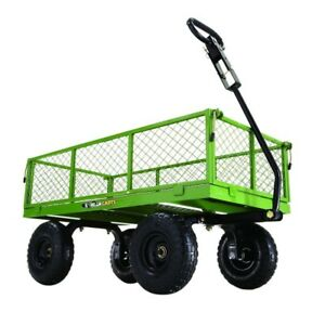 Gorilla Carts 800 Lbs Steel Utility Cart 10 Inch Pneumatic Tires Heavy Duty New