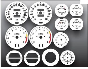 Datsun 240z 260z 280z 70 76 White Gauge Face Restoration Kit 1545