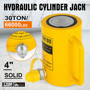 30 Tons 4 Solid Hydraulic Cylinder Jack Automotive Body Pressure Pump Bending