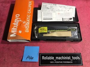 new Mitutoyo Japan Made 6 Inch Absolute Digital Caliper machinist Tool P44