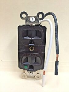 k Hubbell Sg62h Hospital Grade Receptacle Brown Qty 10