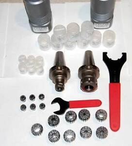 19 Pcs Bhp Cnc Tooling Cat40 Er 16 Er 32 Cnc Collet Chucks Kit W collets