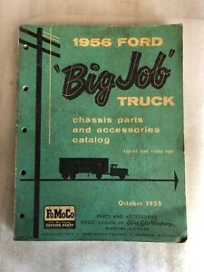 1956 Ford Big Job Truck Chassis Parts And Accessories Catalog Series 700 900