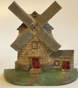 Antique National Foundry 10 Cast Iron Windmill Door Stop