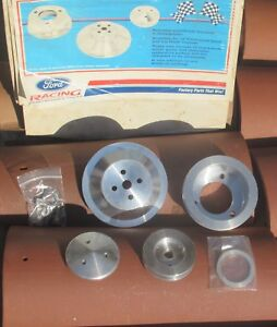 Ford Racing 1965 1969 289 302 351w Billet Mustang Aluminum Pulley Kit M 8509 c