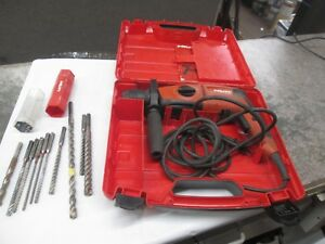 Hilti Te 2 s Rotary Hammer Drill With Bits In Case