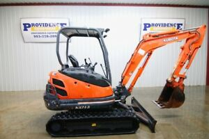 Kubota Kx71 Track Excavator Open Rops 18 Bucket Front Aux Hydraulics