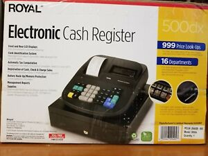 Royal 500dx Electronic Cash Register Has Key Org Box Paper Work Unopened