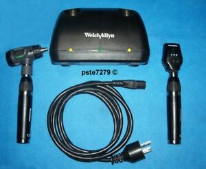 Welch Allyn 71641 ms Lithium Ion Desk Charger Set Macroview Coaxial Heads