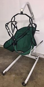 Hoyer Hml400 Manual Hydraulic Patient Lift 400lb Capacity W Padded U sling