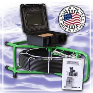 125 Ft Micro Sewer Video Pipe Snake Drain Cleaner Inspection Camera 512hz Sonde