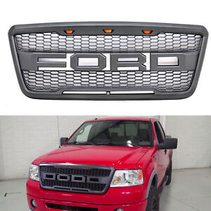 For 2004 2008 Ford F150 Raptor Style Grill Gray Front Hood Oe Grille F