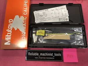 new Mitutoyo Japan Made 8 Inch Absolute Digital Caliper machinist Tool P103