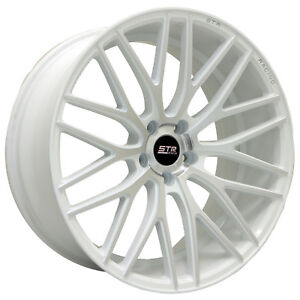 20x9 5x120 Str 615 White Machine Face Bmw Camaro Pontiac