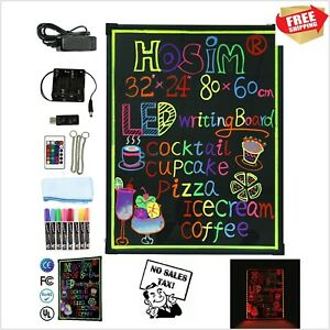 32 x24 Led Dry Erase Menu Board Message Lighted Sign Fluorescent Neon Writing