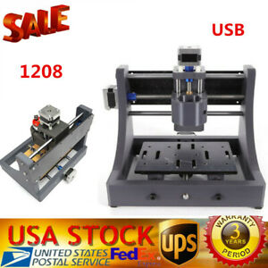 3 Axis Router Mini Wood Carving Machine Cnc 1208 Pcb Milling Usa Free Shipping