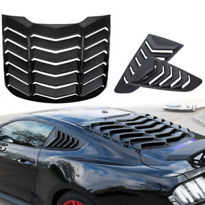 Abs Rear And Side Window Louver Sun Shade Cover Fit 2015 2018 Ford Mustang